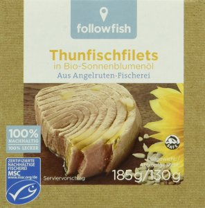 Followfish Thunfischfilet in Bio - Sonnenblumenöl