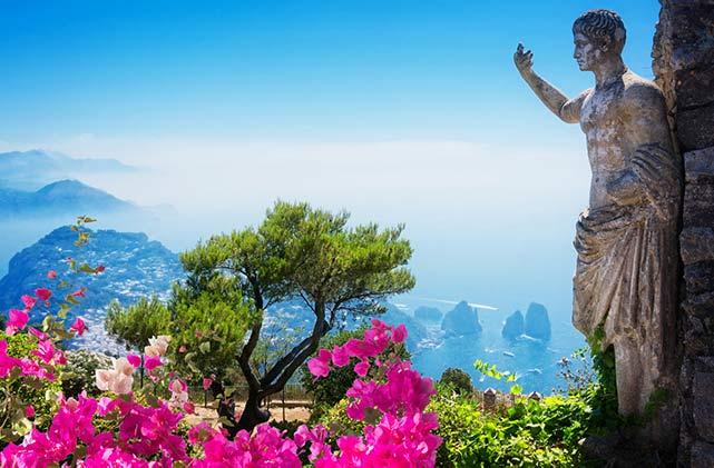 Statue in Italien am Drehort