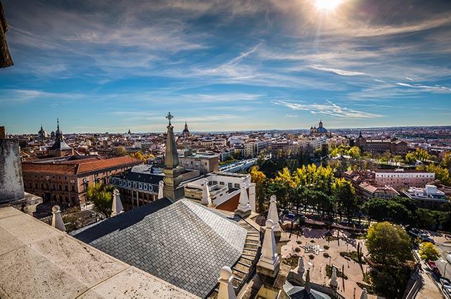 Sicht auf Madrid von oben