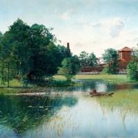 "Alfred Thörne (Swedish, 1850-1916), ""Brefvens bruk"" (1891)"