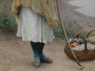 """Eugene de Blaas (Italian, 1843-1932), """"Awaiting the Return"""" (detail)"""