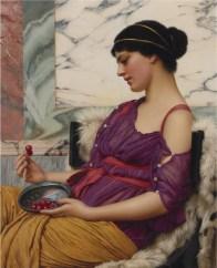 """John William Godward (English, 1861-1922), """"Ismenia"""""""
