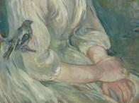 """Berthe Morisot (French, 1841-95), """"Petite fille à l'oiseau"""" (detail)"""