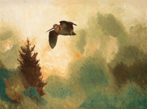 "Bruno Liljefors (Swedish, 1860-1939), ""Landscape with Snipe"""