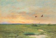 """Bruno Liljefors (Swedish, 1860-1939), """"Spoväng"""" (1924)"""