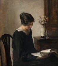 "Carl Vilhelm Holsøe (Danish, 1863-1935), ""Lady in Black"""