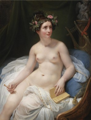 """Circle of Jacques-Louis David (French, 1748-1825), """"The Poetess Sappho"""""""