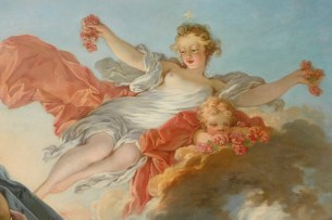 "Jean-Honoré Fragonard (French, 1732-1806), ""The Goddess Aurora Triumphing over Night"" (detail)"