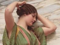 "John William Godward (English, 1861-1922), ""A Fair Reflection"" (detail)"