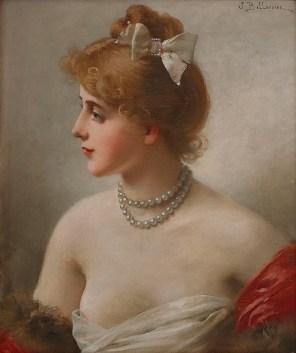 "Jules-Fréderic Ballavoine (French, 1855-1901), ""Portrait of a Woman"""