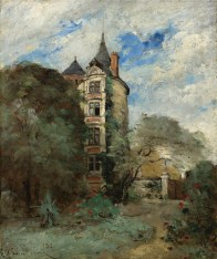"""Paul-Désiré Trouillebert (French, 1829-1900), """"Un château dans le parque"""""""