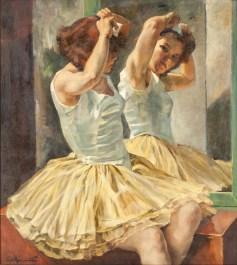 "Philippe de Rougemont (Swedish, 1891-1965), ""Ballerina framför spegel"" (""Dancer before a Mirror"")"