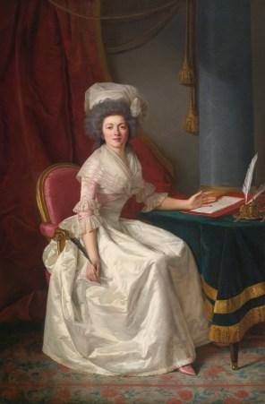 """Rose-Adélaïde Ducreux (French, 1761-1802), """"Portrait of a Lady"""""""