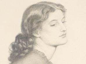 """Dante Gabriel Rossetti, """"Portrait of Ada Vernon"""" (detail)."""