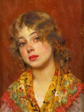 "Eugene de Blaas (Italian, 1843-1932), ""Gipsy Girl"""