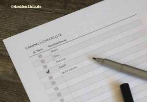Checkliste fürs Campingzubehör
