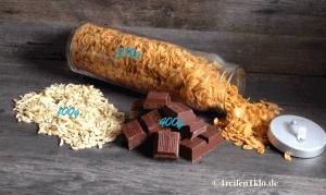 Die Zutaten für leckere Choco-Crossies