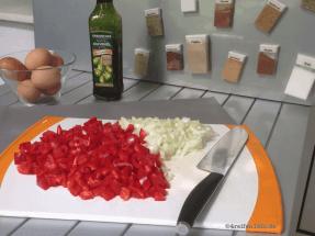 tortilla espanola-omnia backofen-paprika zwiebeln