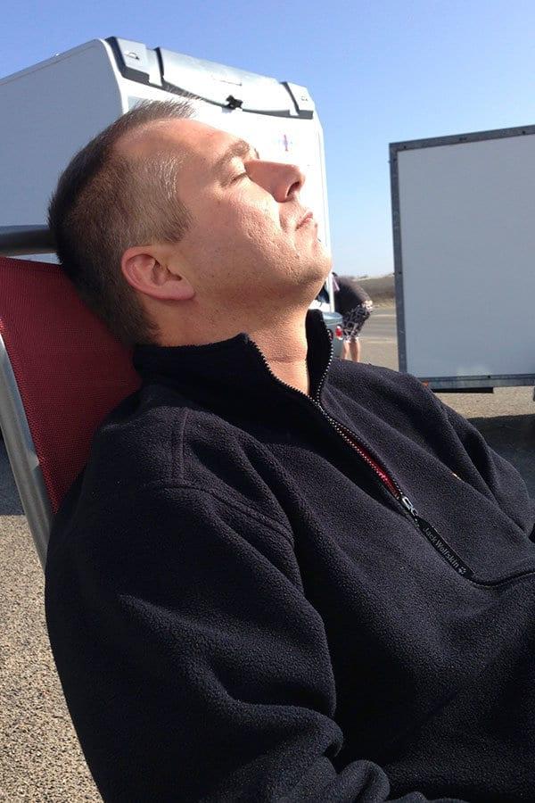 Frank genießt die Sonne