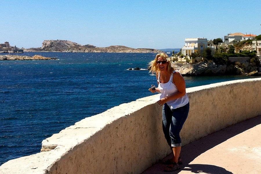 Lustiger Moment an der Cote Azur