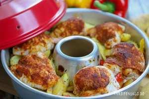 Hähnchenbrust mit Thymian-Kartoffelecken