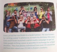 Brain Tumour Charity article in Grey Matters