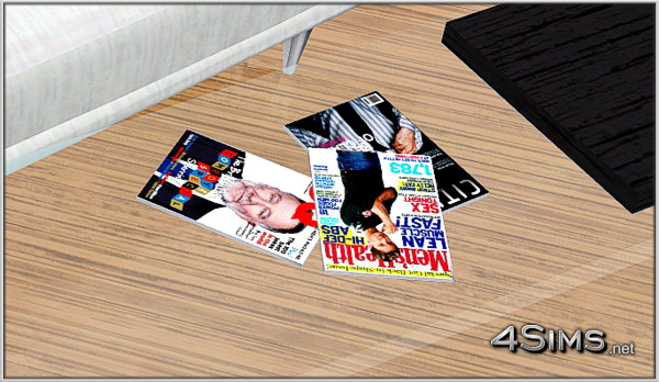 Fashion And Lifestyle Magazines Decor Clutter Sims 3 Set