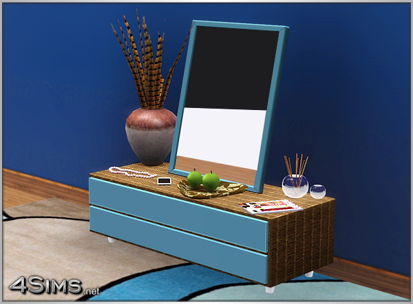 Vanity Set 2 Items Separate Dresser And Mirror For Sims 3 4Sims