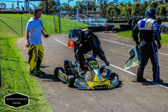 4 Stroke karting driver changes