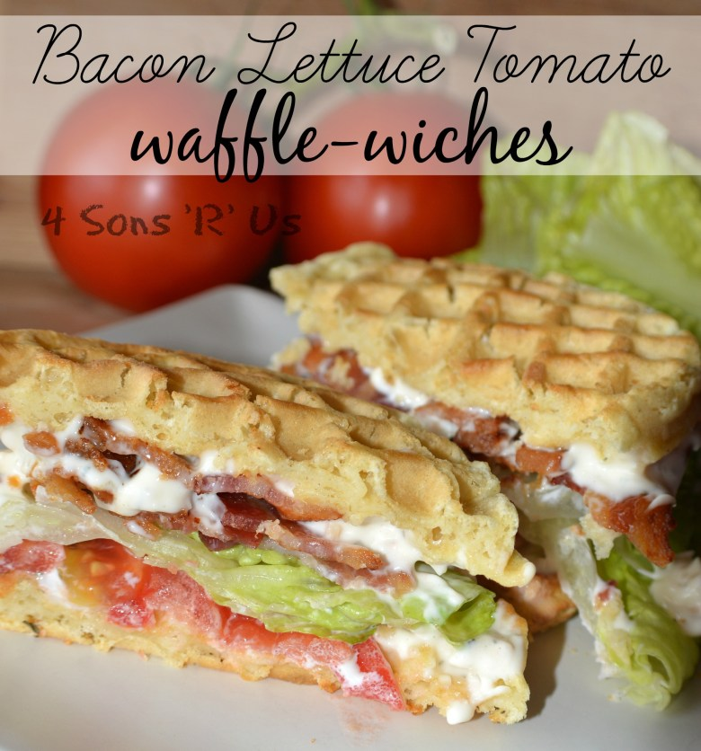 Bacon Lettuce Tomato Waffle Wiches