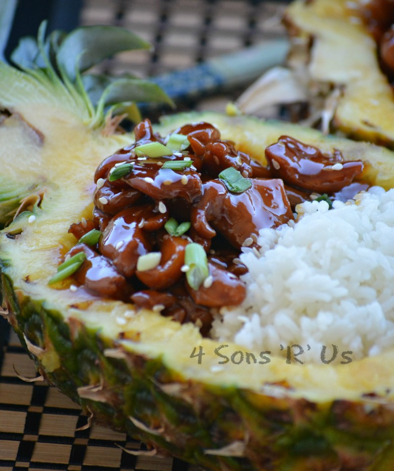Chicken Teriyaki Pineapple Boats 3