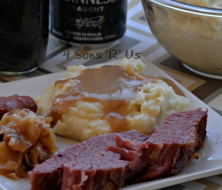 Whipped Mashed Potatoes & Dijon Stout Gravy 2