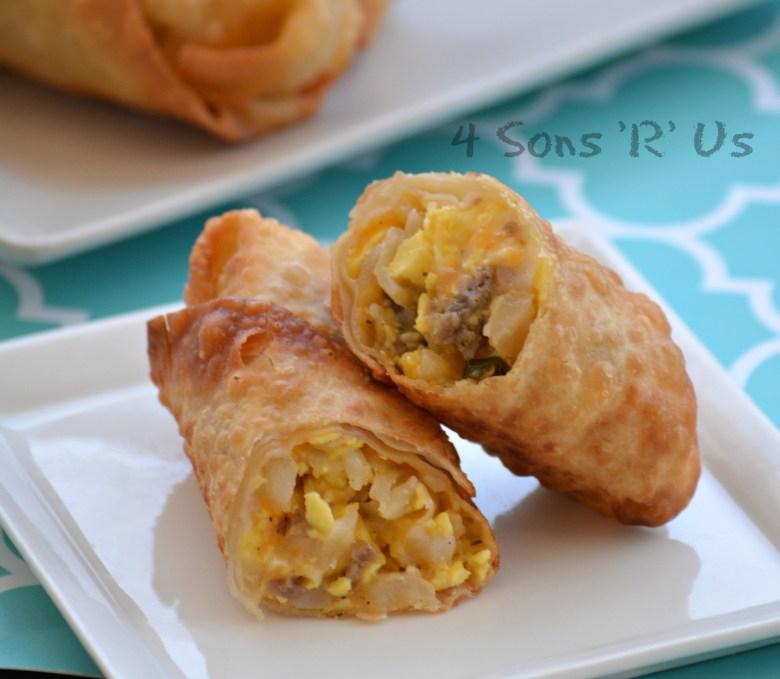 Breakfast Eggrolls with Sausage Gravy 4
