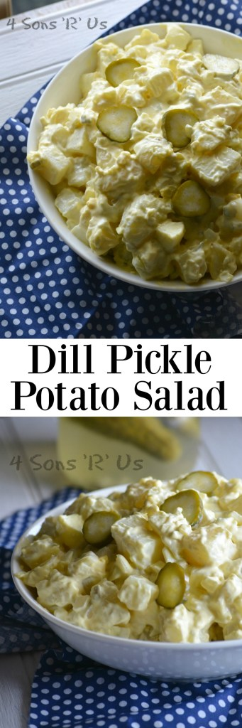 Dill Pickle Potato Salad Collage