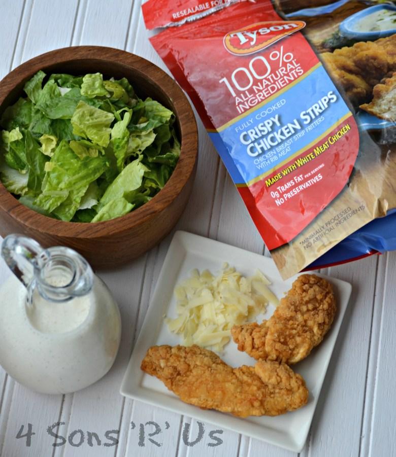 Tyson Chicken Strips Simple Snack Supper Salad