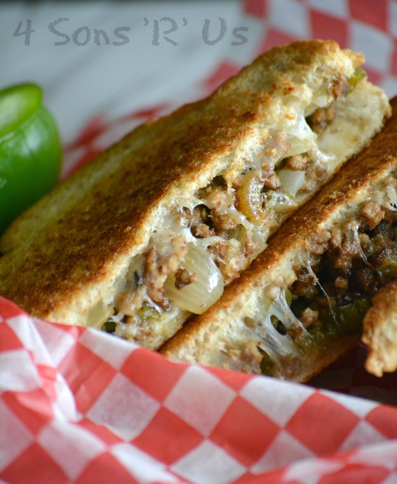 Ground Beef Philly Cheesesteak Grilled Cheese