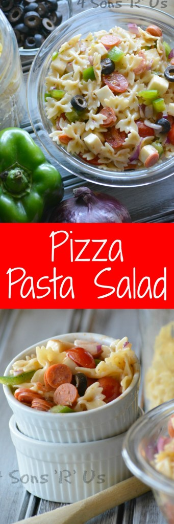 Pizza Pasta Salad Collage