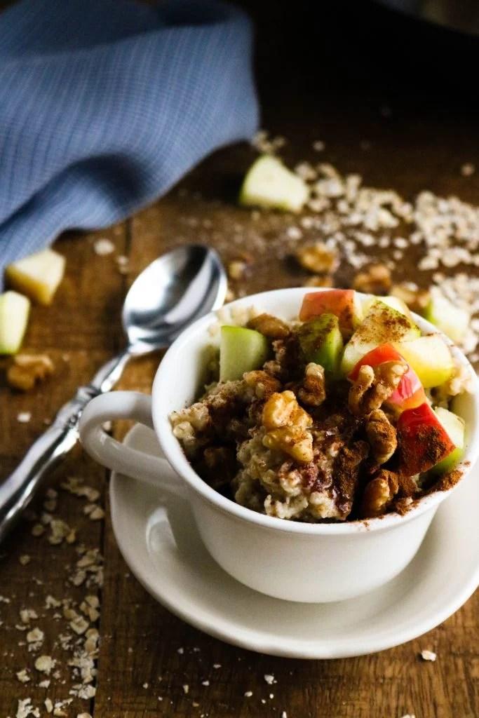Instant Pot Quick Oats with Apples, Walnuts, & Honey