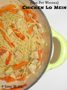 4 Sons 'R' Us: {One Pot Wonder} Chicken Lo Mein