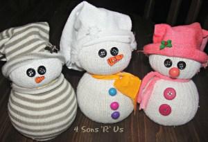 4 Sons 'R' Us: sock snowmen