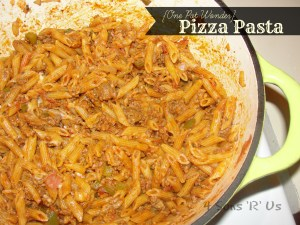 4 Sons 'R' Us: {One Pot Wonder} Pizza Pasta