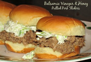 Balsamic Vinegar & Honey Pulled Pork Sliders