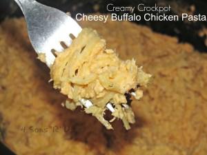 Creamy Crockpot Cheesy Buffalo Chicken Pasta
