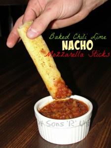 Baked Chili Lime Nacho Mozzarella Sticks
