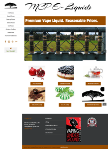 Vape Shop Web Design