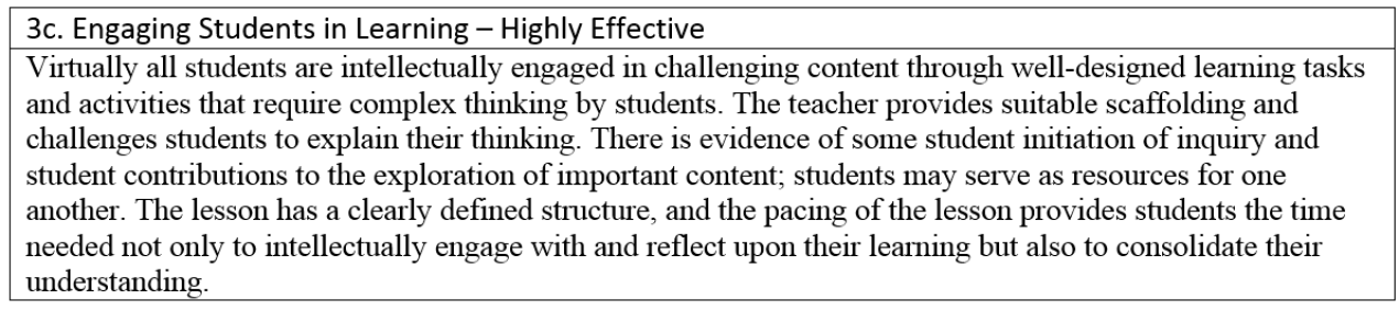 5 Components of Highly Effective Classroom Practices – 4