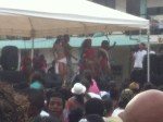 Miss Providencia contestants whooping it up at Carnival.