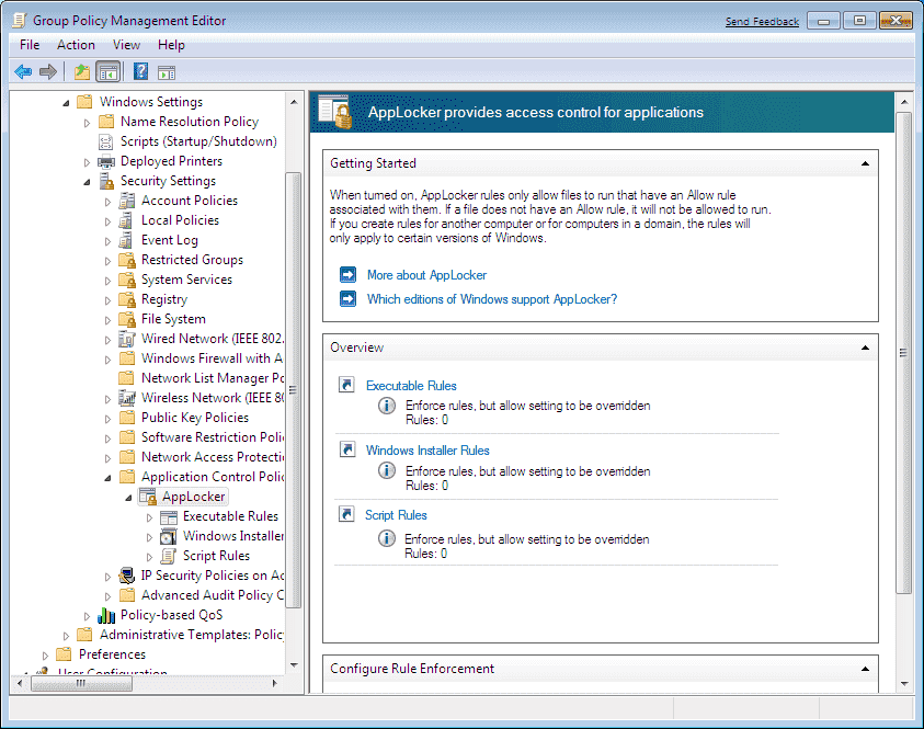 Using Windows 7 AppLocker To Whitelist Programs