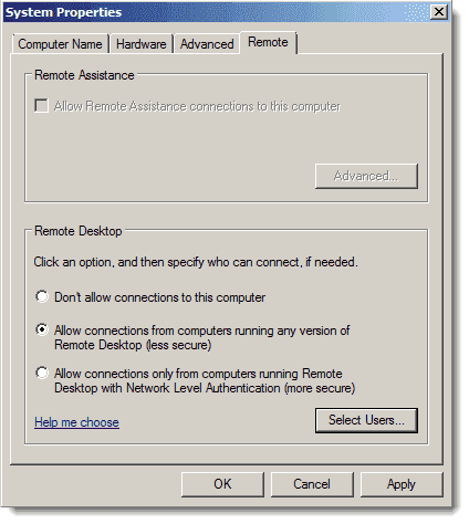 Mac - Remote Desktop Desktop Connection - Enable RDP in Windows Server 2008