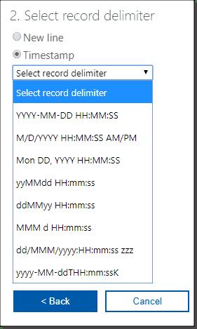 Select a record delimiter